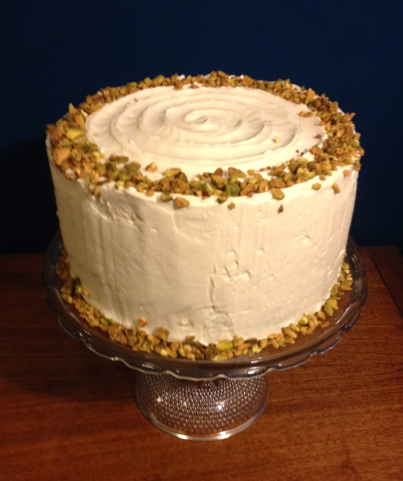 Aunt Sassy Cake | Pistachio cake with honey buttercream | Brooklyn Homemaker