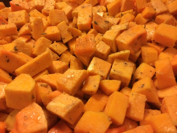 roasted butternut squash with honey and thyme | how we did Thanksgiving | Brooklyn Homemaker""