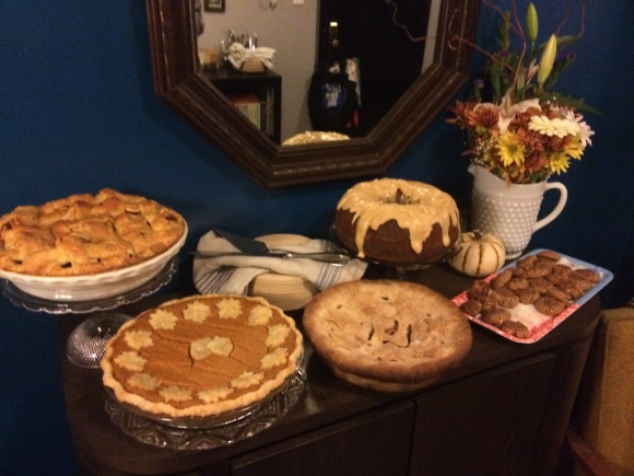 dessert buffet | how we did Thanksgiving | Brooklyn Homemaker