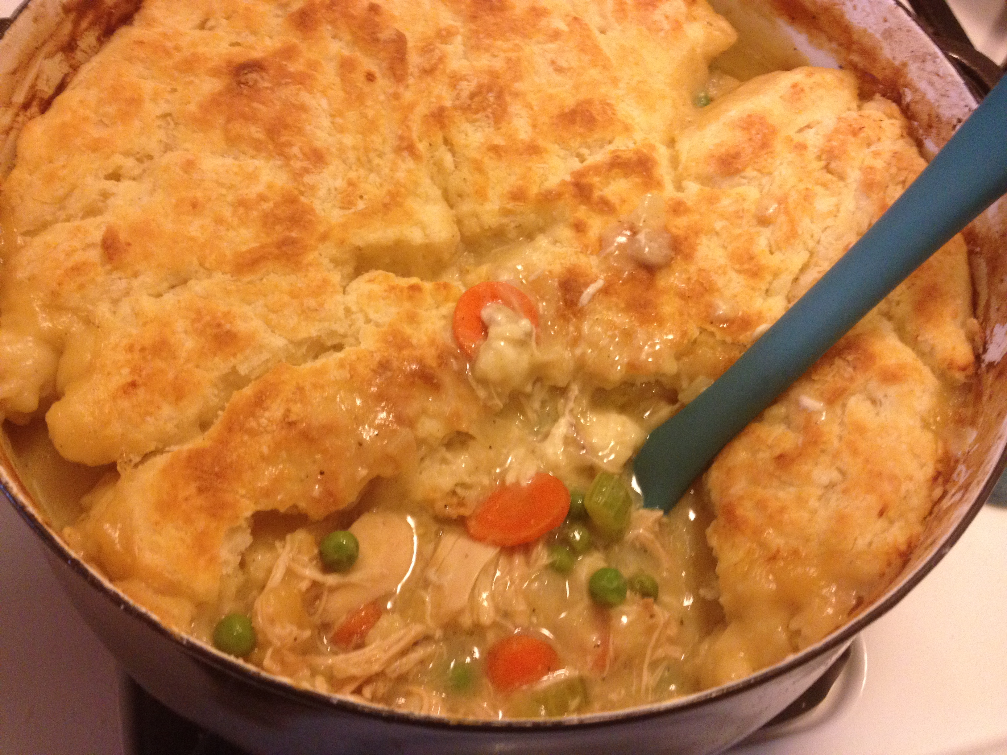 Chicken Pot Pie With Buttermilk Biscuit Crust Brooklyn Homemaker