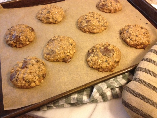 Oatmeal cookies with cherries, cocoa nibs & chocolate   by Brooklyn Homemaker