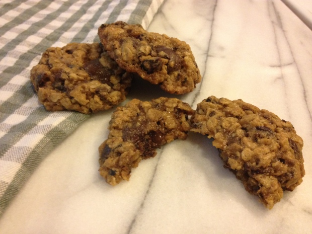 Oatmeal cookies with cherries, cocoa nibs & chocolate | by Brooklyn ...