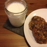 Oatmeal Cookies with Cherries, Cocoa Nibs & Chocolate