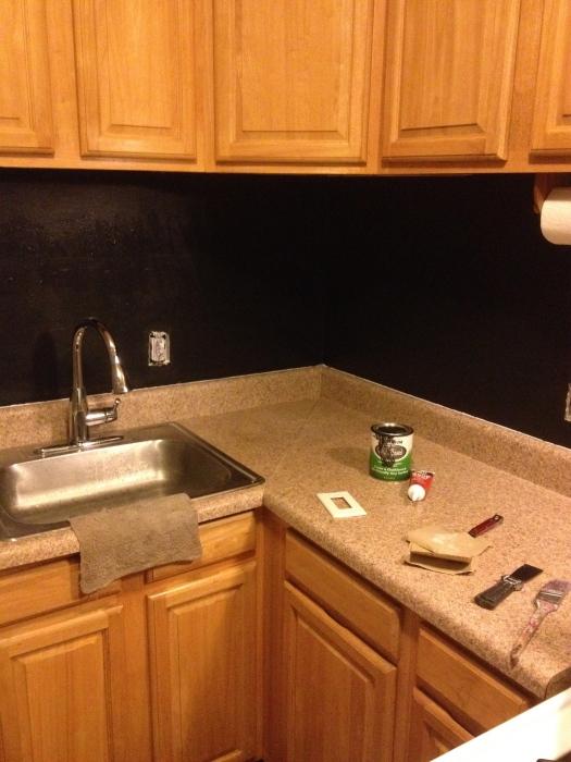 Chalkboard backsplash project | Brooklyn Homemaker