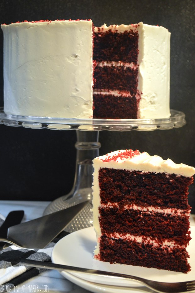 red velvet cake with ermine icing | Brooklyn Homemaker