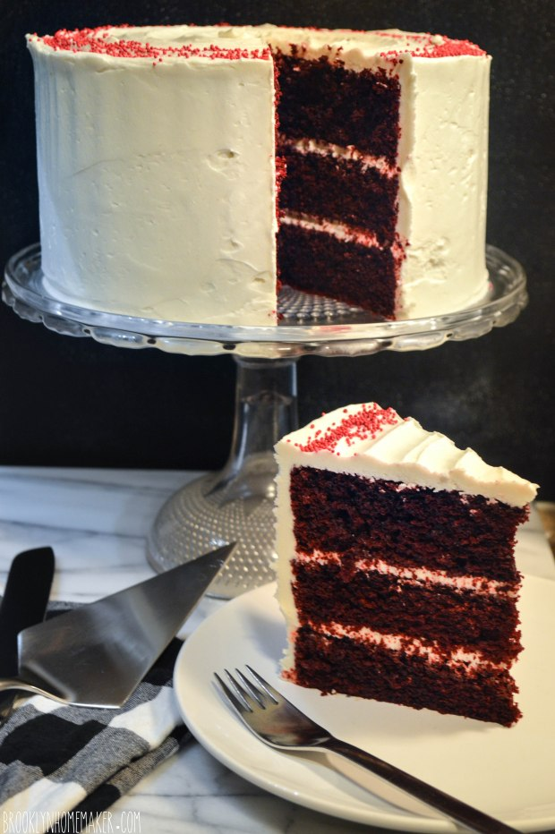 red velvet cake with ermine icing | Brooklyn Homemaker