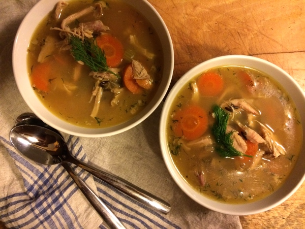 turkey soup with wild rice and dill | Brooklyn Homemaker