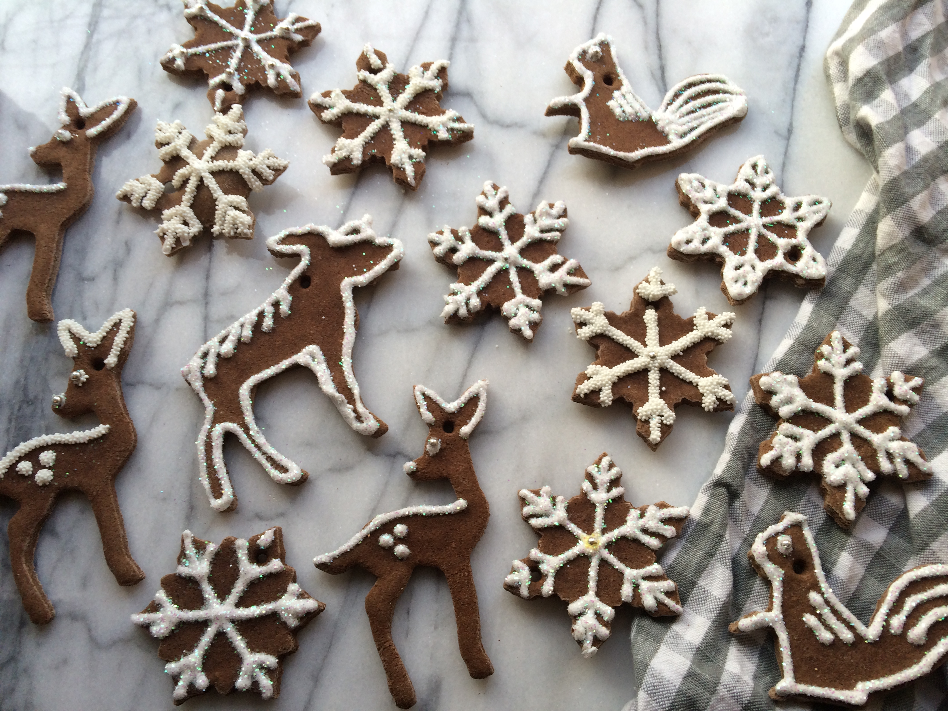 "Gingerbread"" Salt Dough Ornaments 