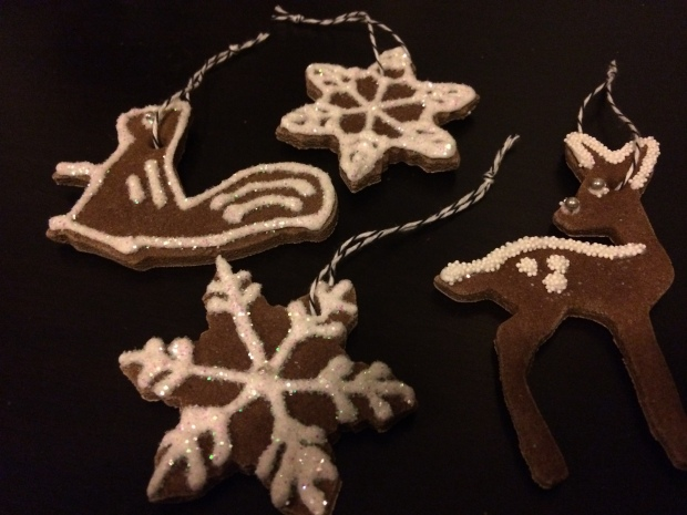 """gingerbread"" salt dough ornaments 