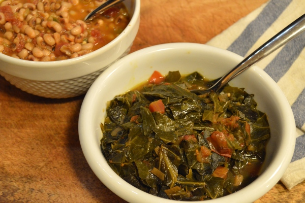 new year's day brunch | vegetarian collard greens and black eyed peas | Brooklyn Homemaker