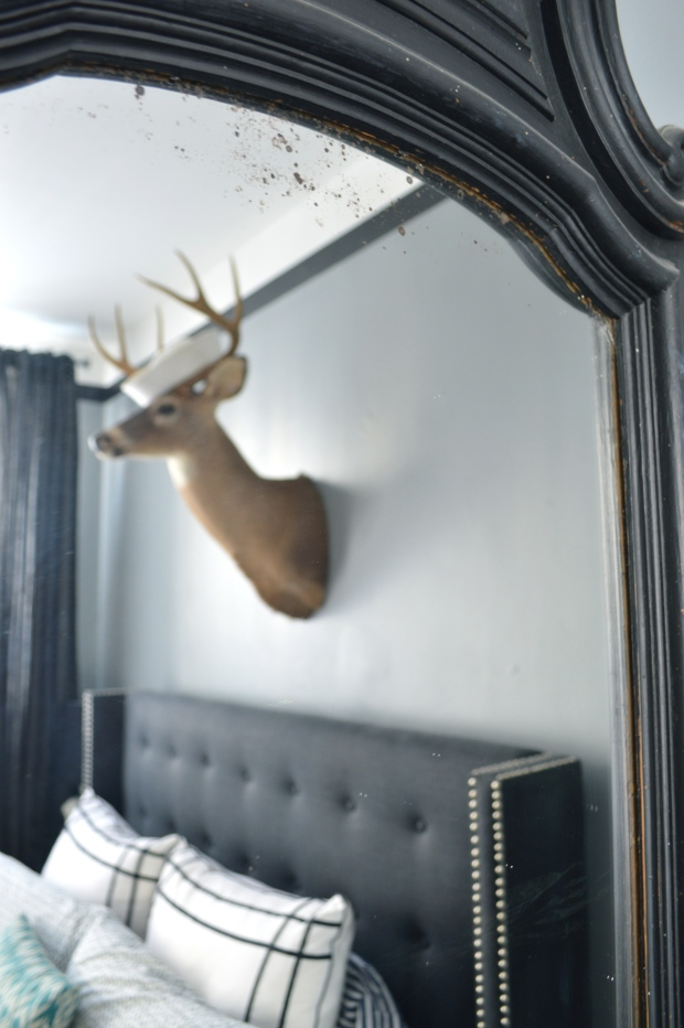 taxidermy over bed | Brooklyn Homemaker