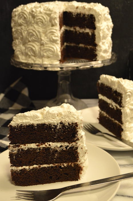 devil's food cake with heavenly marshmallow icing | Brooklyn Homemaker