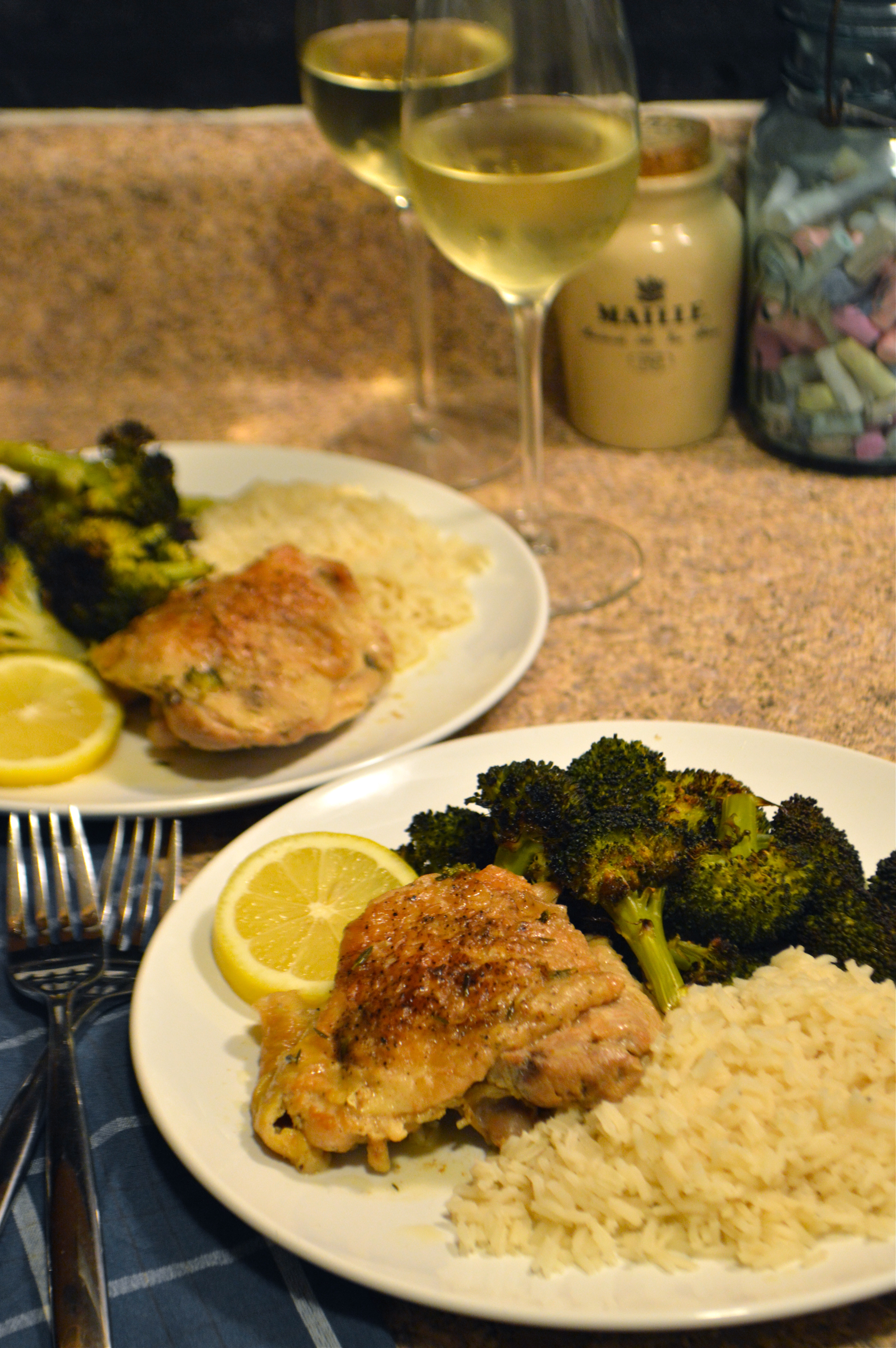 braised chicken thighs with white wine, lemon, & capers ...