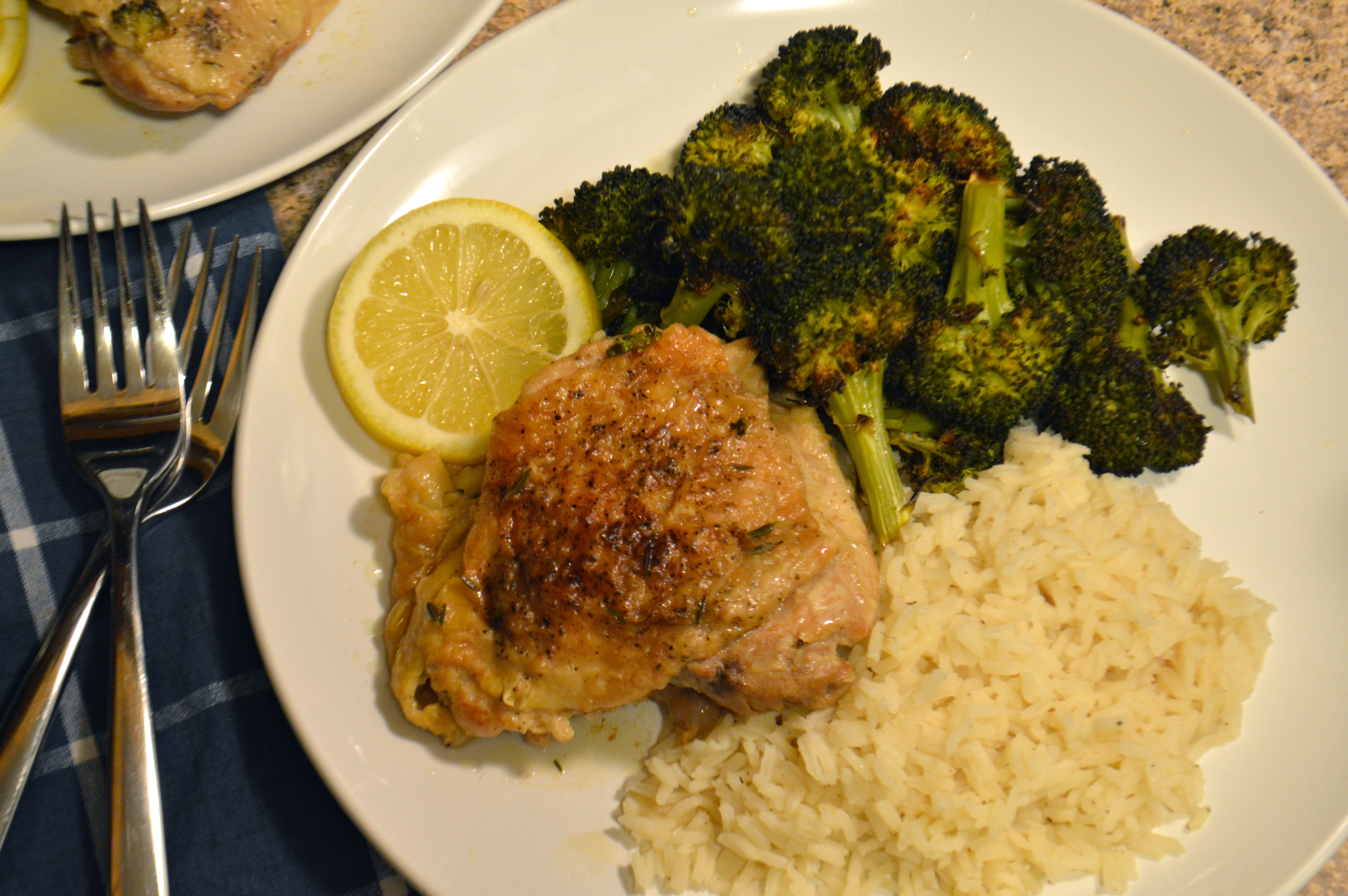 Braised Chicken Thighs With White Wine, Lemon,  Capers -6392