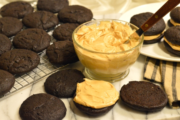 chocolate peanut butter whoopie pies | Brooklyn Homemaker