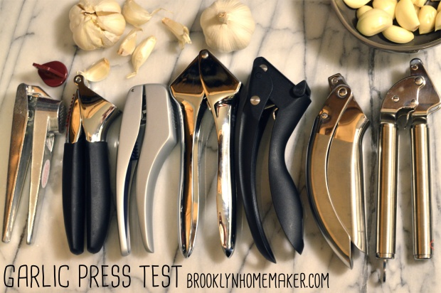 garlic press testing | Brooklyn Homemaker
