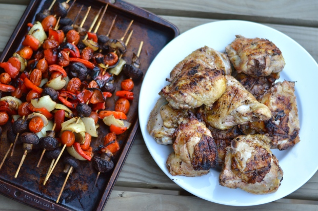 grilled lemon herb chicken thighs | Brooklyn Homemaker
