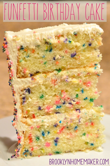 funfetti birthday cake | cake construction tips | Brooklyn Homemaker