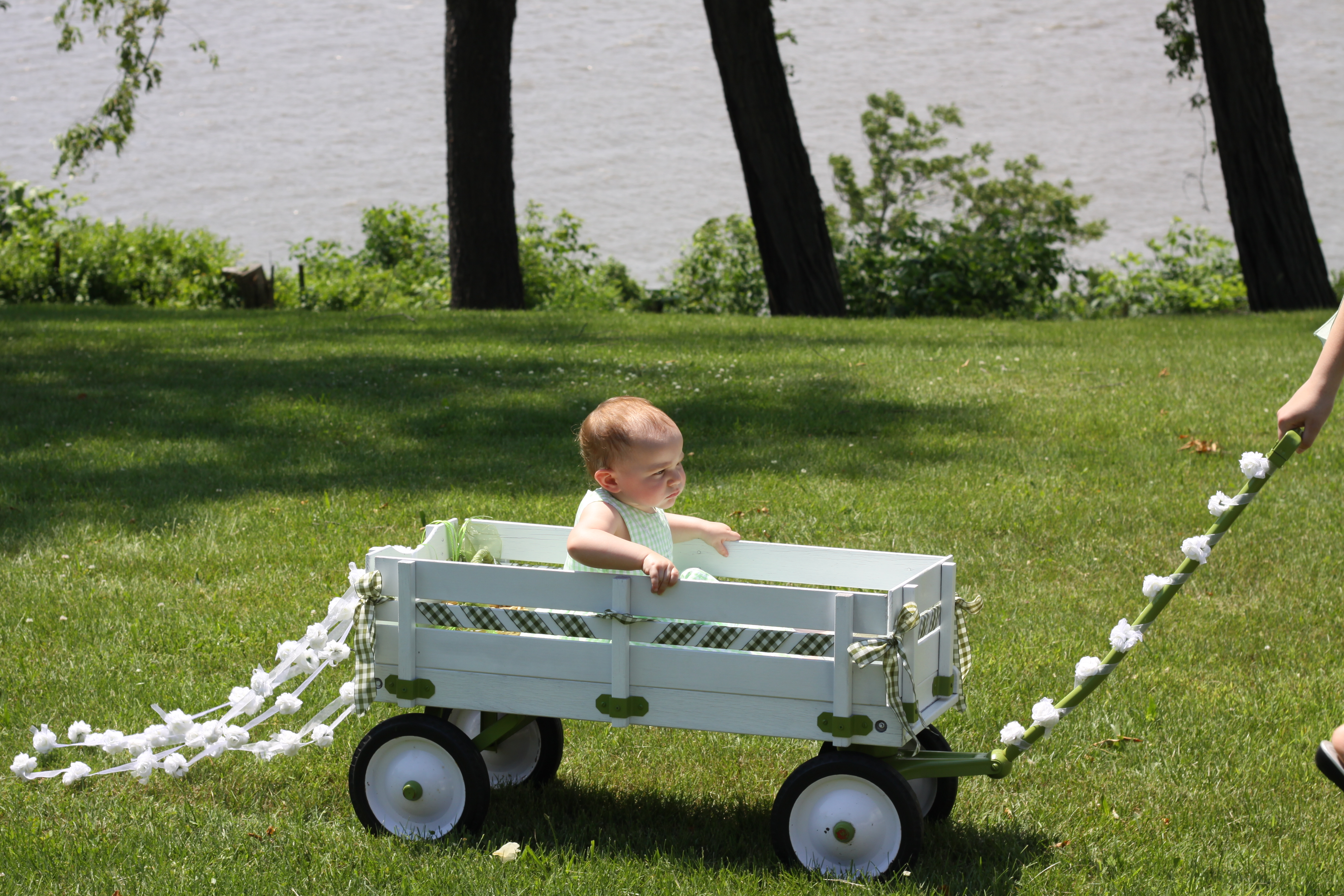 Very young ring bearers and/or flower girls enter the ... |Flower Girl Wagon Wedding Party