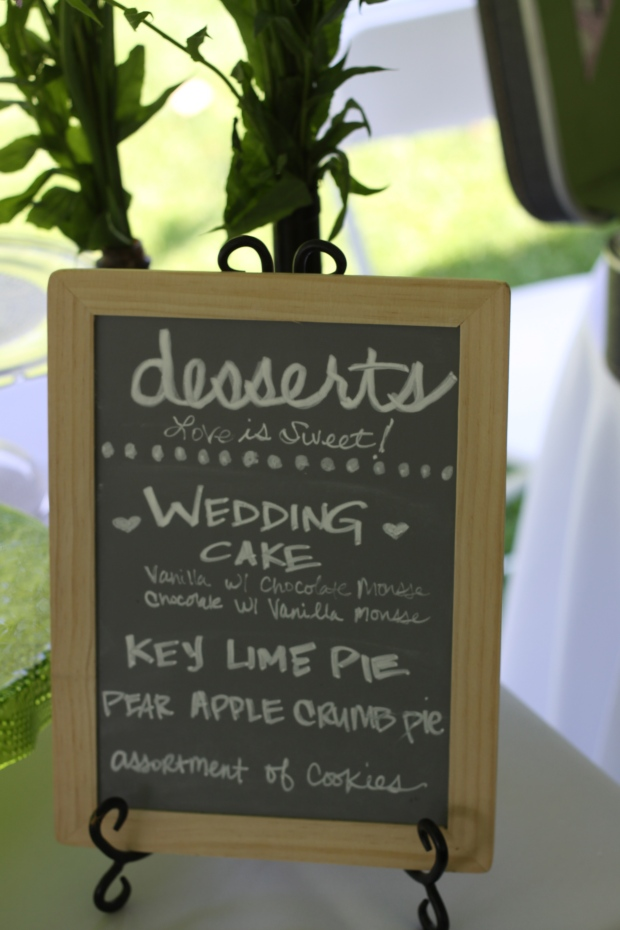 chalkboard dessert menu | Tuxedo & Russell's Hudson Valley June Wedding | Brooklyn Homemaker