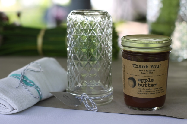 homemade apple butter wedding favors | Tuxedo & Russell's Hudson Valley June Wedding | Brooklyn Homemaker