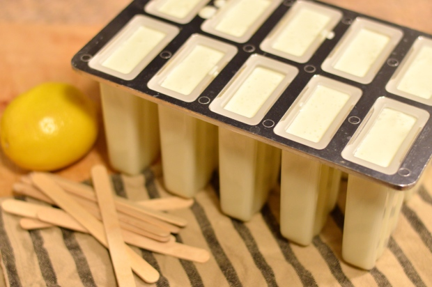 buttermilk ricotta ice pops with lemon, thyme, & honey | Brooklyn Homemaker