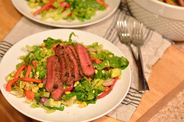 summery steak salad with chili lime dressing | Brooklyn Homemaker