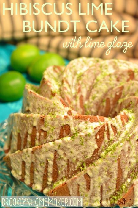 hibiscus lime bundt cake | Brooklyn Homemaker