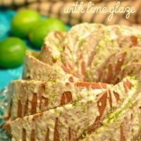 hibiscus lime bundt cake  #bundtbakers