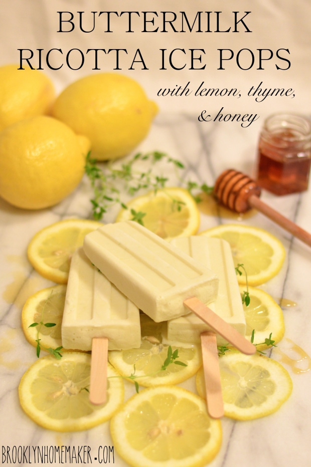 buttermilk ricotta ice pops with lemon, thyme, & honey | Brooklyn Homemaker