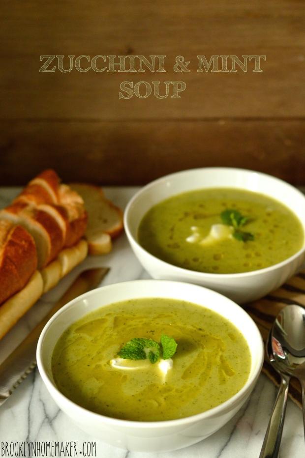 zucchini & mint soup   Brooklyn Homemaker