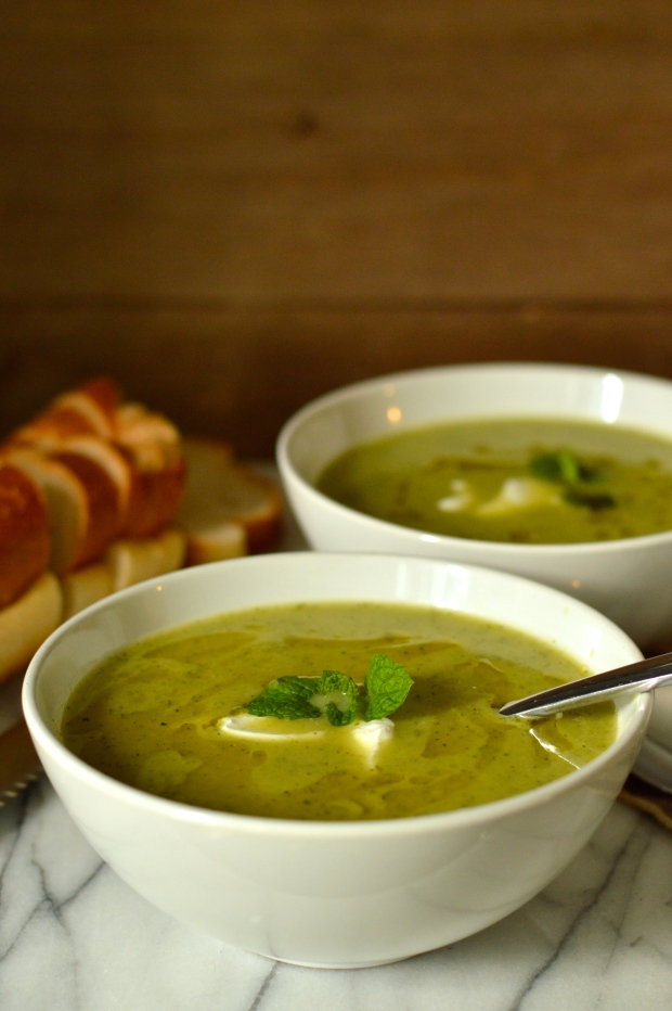 zucchini & mint soup | Brooklyn Homemaker