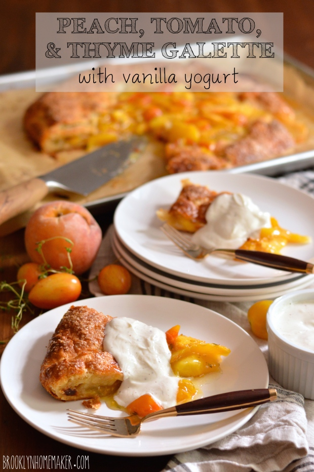 peach, tomato, & thyme galette with vanilla yogurt | Brooklyn Homemaker