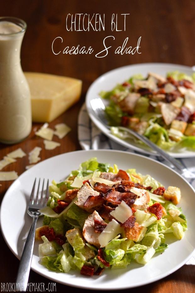 chicken BLT Caesar salad | Brooklyn Homemaker