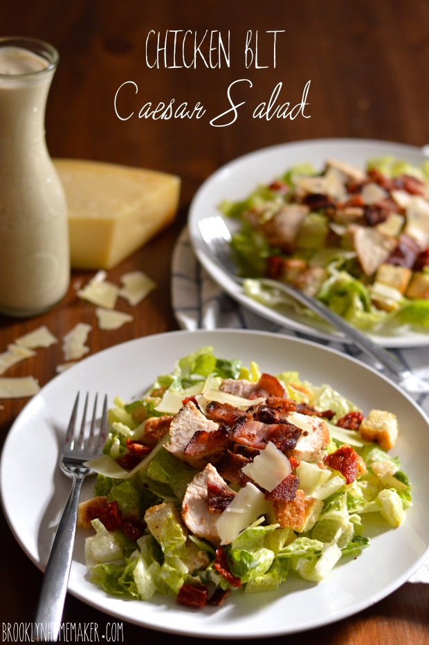chicken BLT Caesar salad | Brooklyn Homemaker
