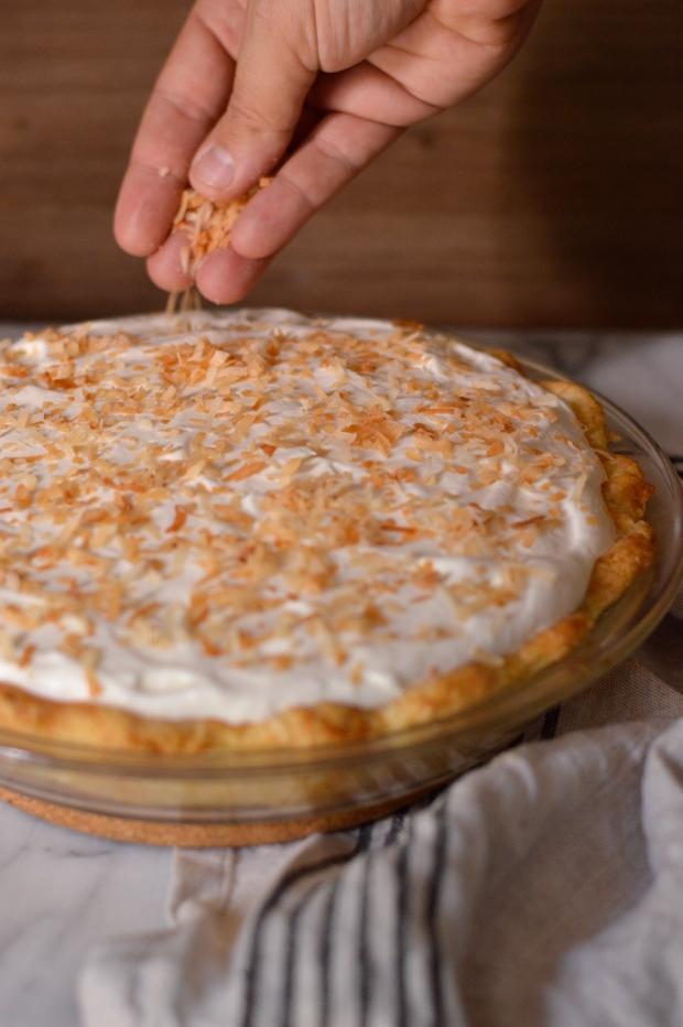 toasted coconut cream pie | Brooklyn Homemaker
