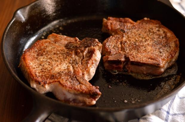 seared pork chops with apples, onions, & mustard   Brooklyn Homemaker
