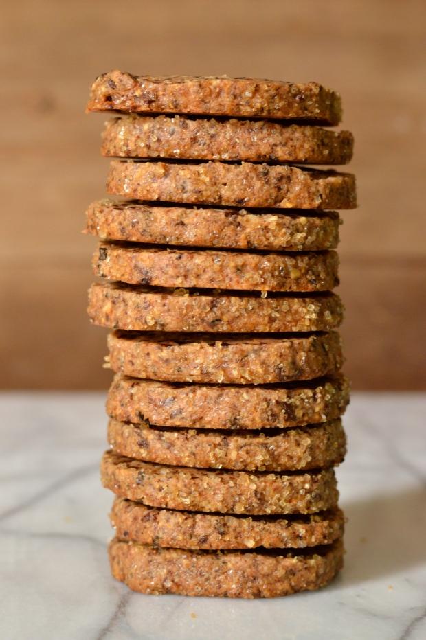 cherry, almond, & dark chocolate shortbread cookies   Brooklyn Homemaker