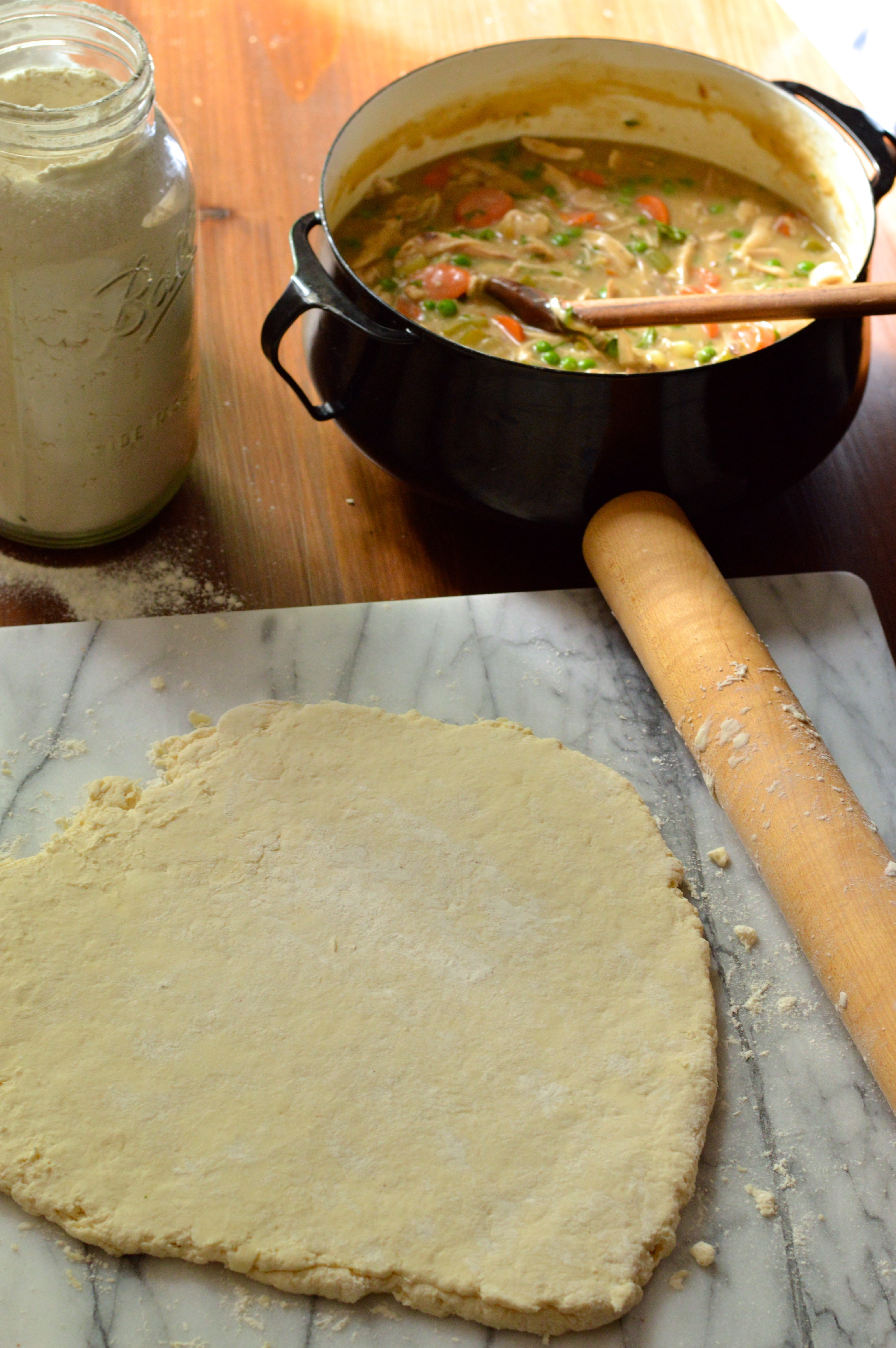 Homemade Chicken Pot Pie With Buttermilk Biscuit Crust Brooklyn Homemaker
