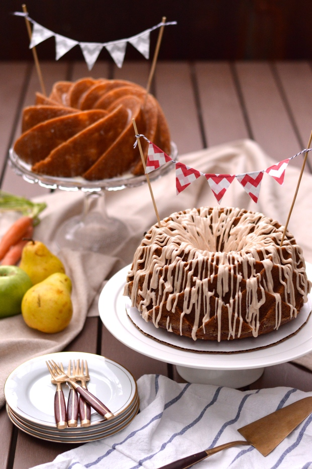 spiced harvest bundt cake with cream cheese glaze | Brooklyn Homemaker