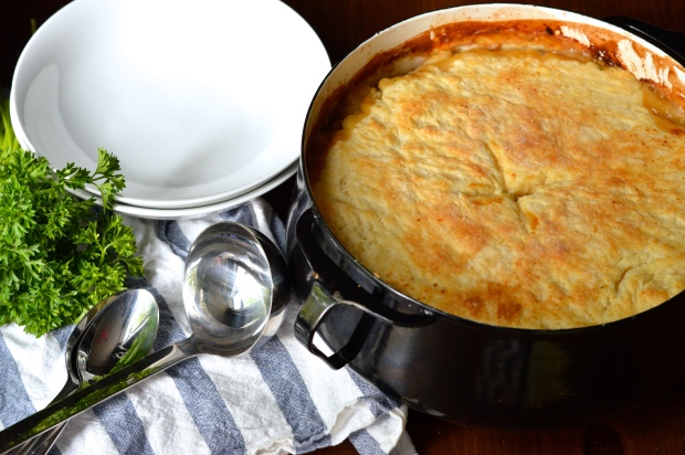 homemade chicken pot pie with buttermilk biscuit crust | Brooklyn Homemaker