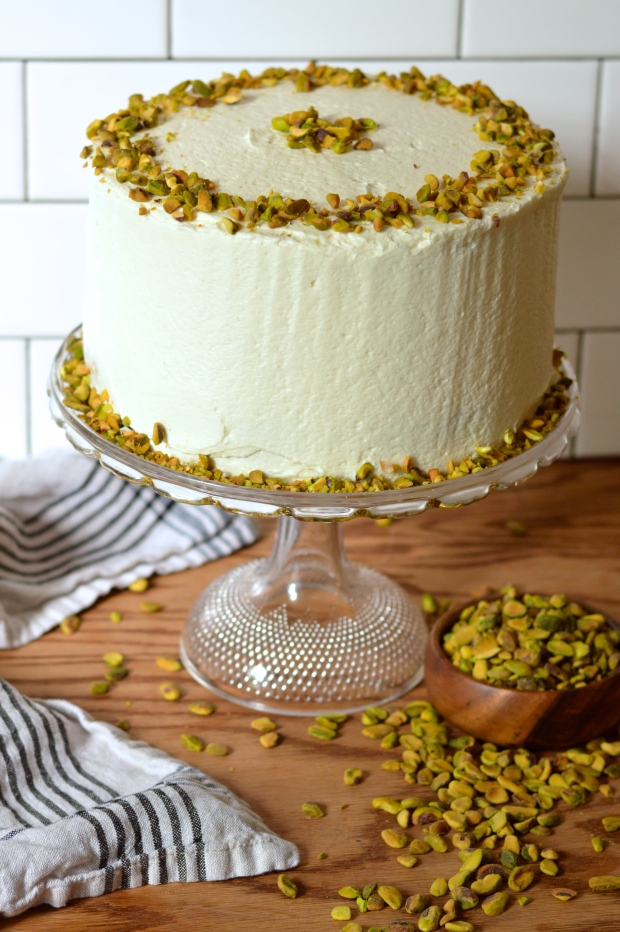aunt sassy cake | pistachio layer cake with honey buttercream | Brooklyn Homemaker
