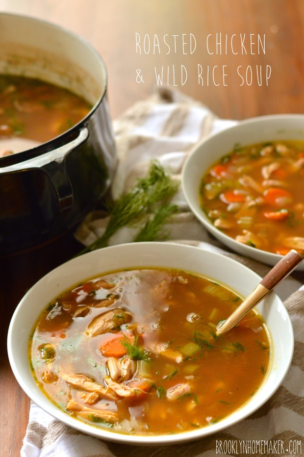 roasted chicken and wild rice soup | Brooklyn Homemaker