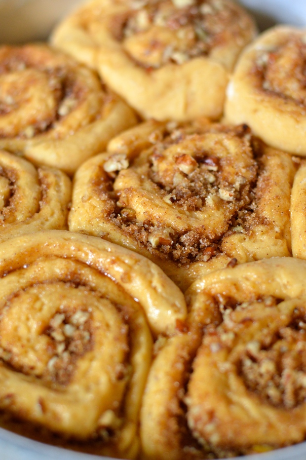 sweet potato & pecan cinnamon rolls | Brooklyn Homemaker