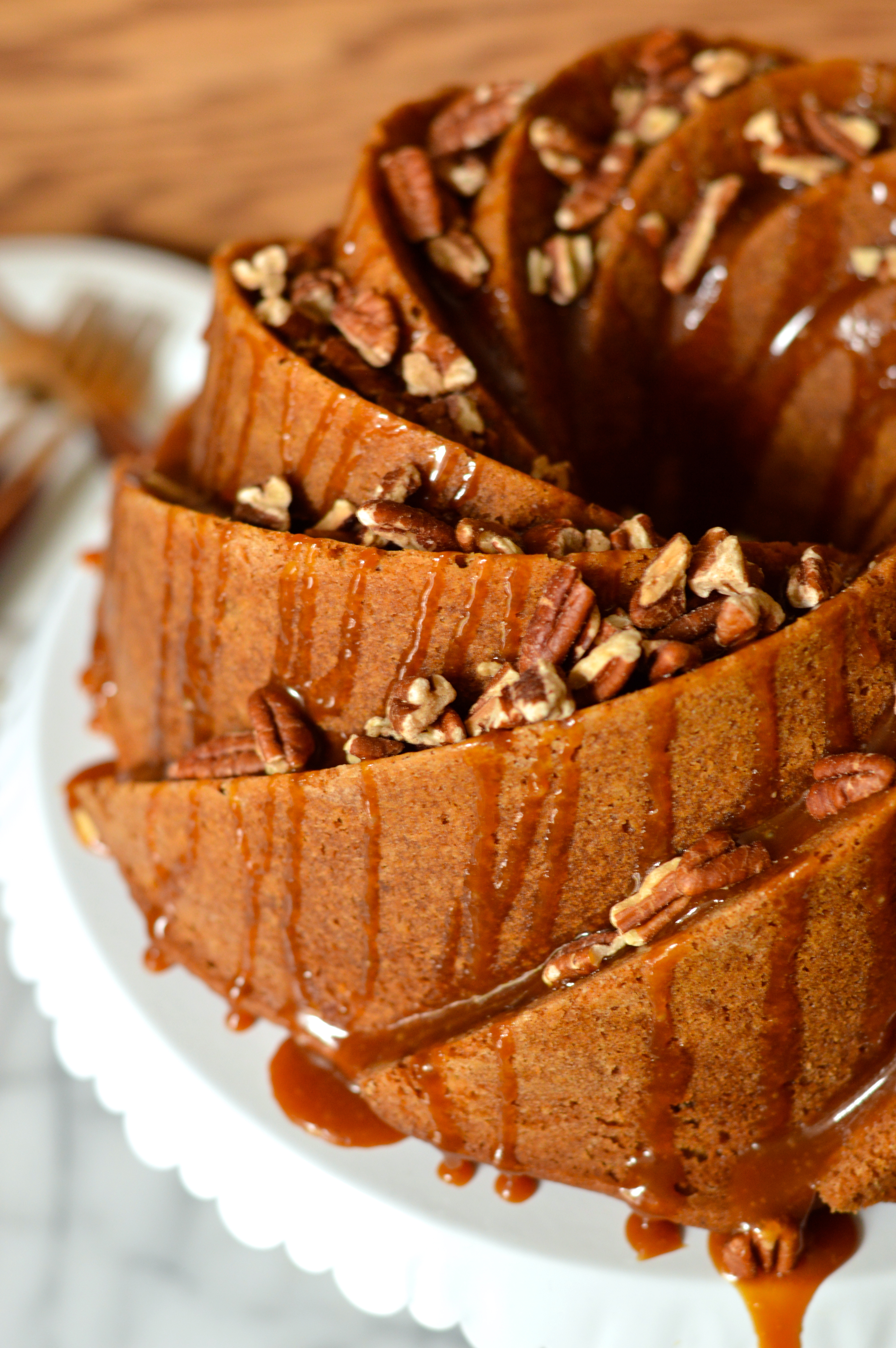 Apple Bundt Cake With Caramel Drizzle
