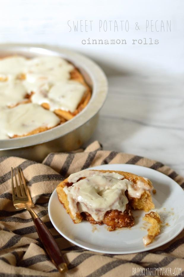 sweet potato & pecan cinnamon rolls | Brooklyn Homemaker
