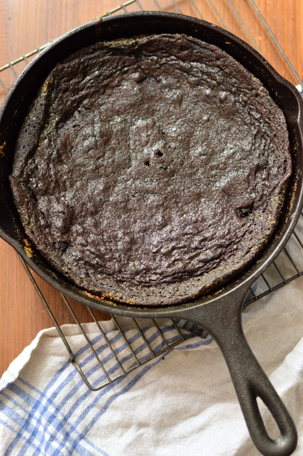 easy fudgy cocoa skillet brownies | Brooklyn Homemaker