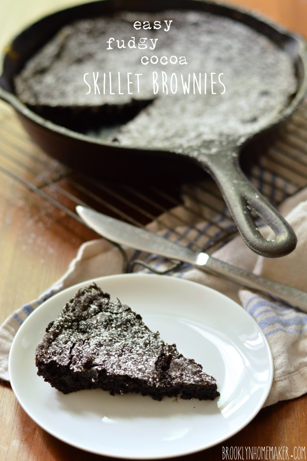 easy fudgy cocoa skillet brownies