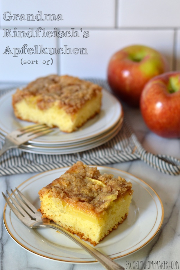 grandma Rindfleisch's apfelkuchen    german apple cake   Brooklyn Homemaker