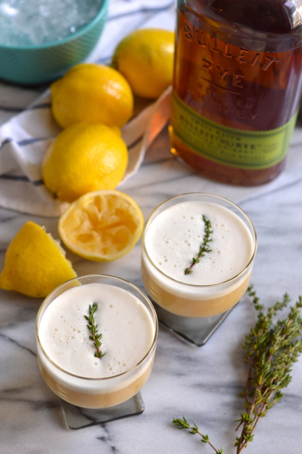 maple & thyme whiskey sour | Brooklyn Homemaker